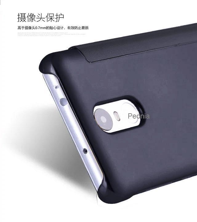 ... Peonia Mirror Flip Cover Case for Xiaomi Redmi Note 3 / Note 3 Pro / Prime