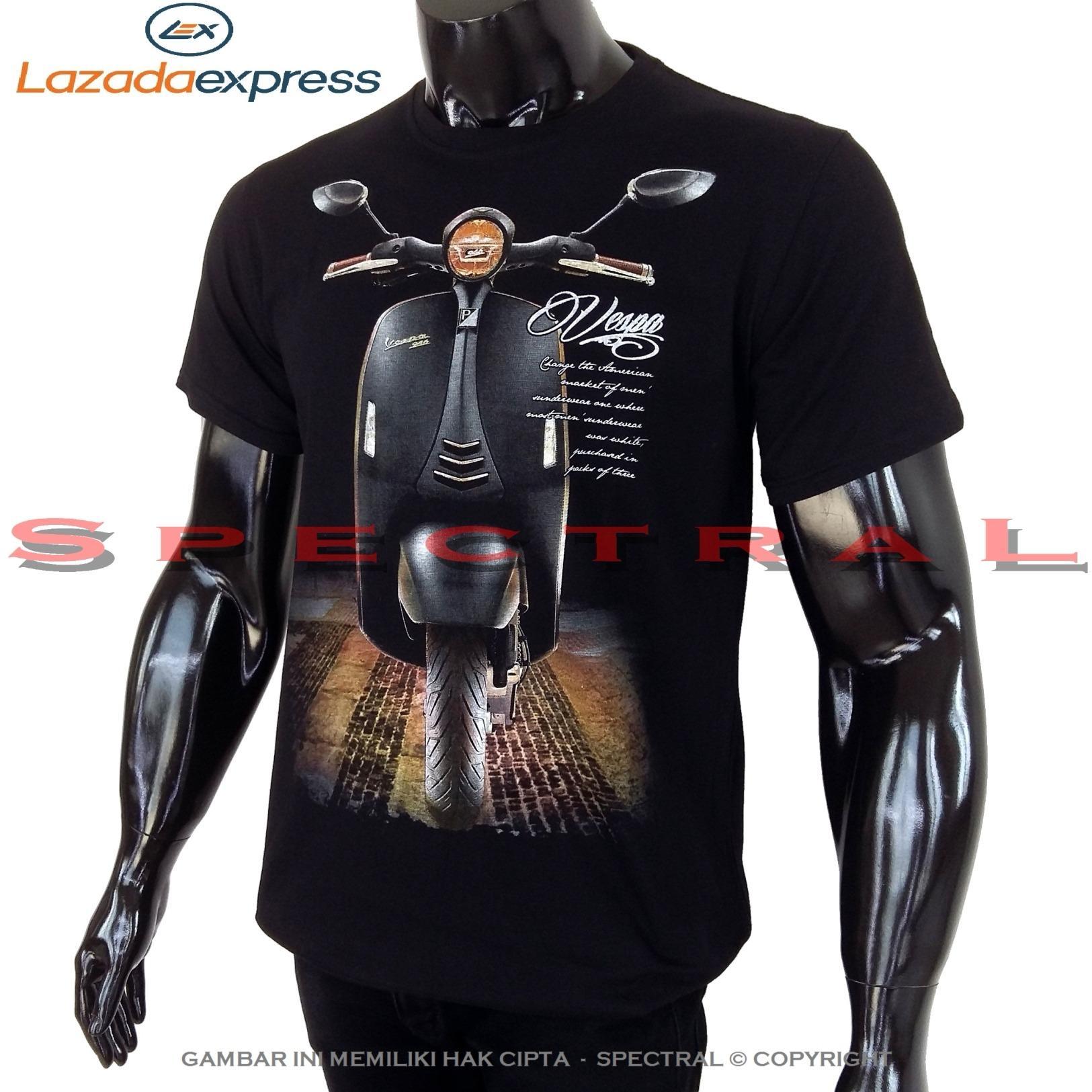 Cek Harga Baru Spectral Vespa Spion 100 Soft Cotton Combed 30s Kaos