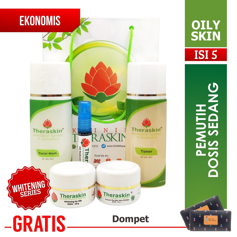 Paket Theraskin Glowing + Serum for Oily Skin / Theraskin Glowing Untuk Kulit Berminyak (Facial