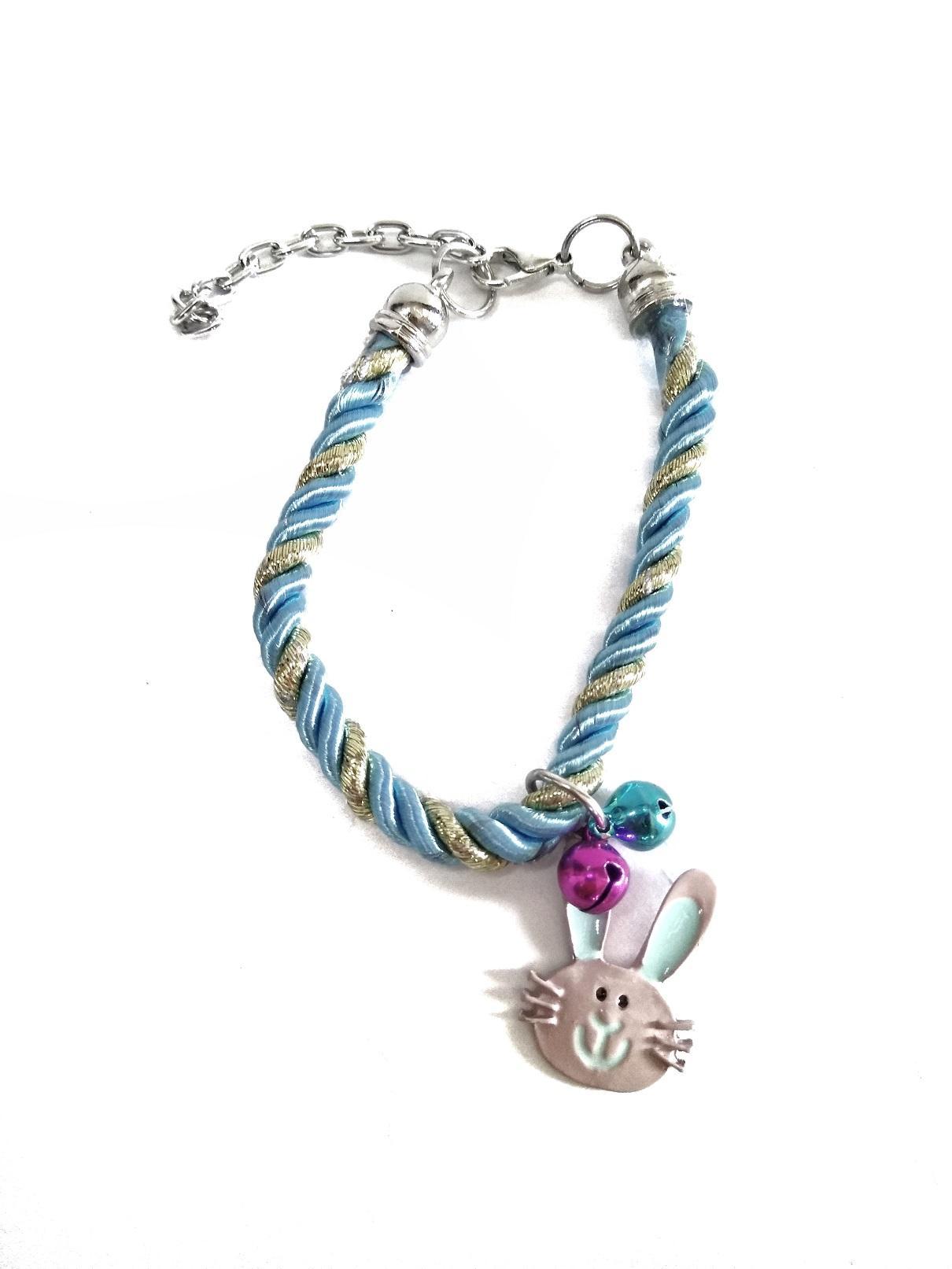 Kalung Anjing Kucing Tali Kepang dua kerincing