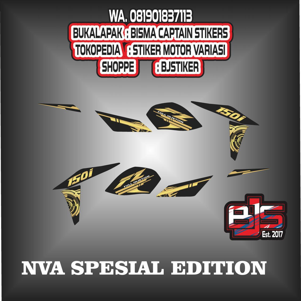 stiker striping list motor new vixion advance spesial edition fz 150
