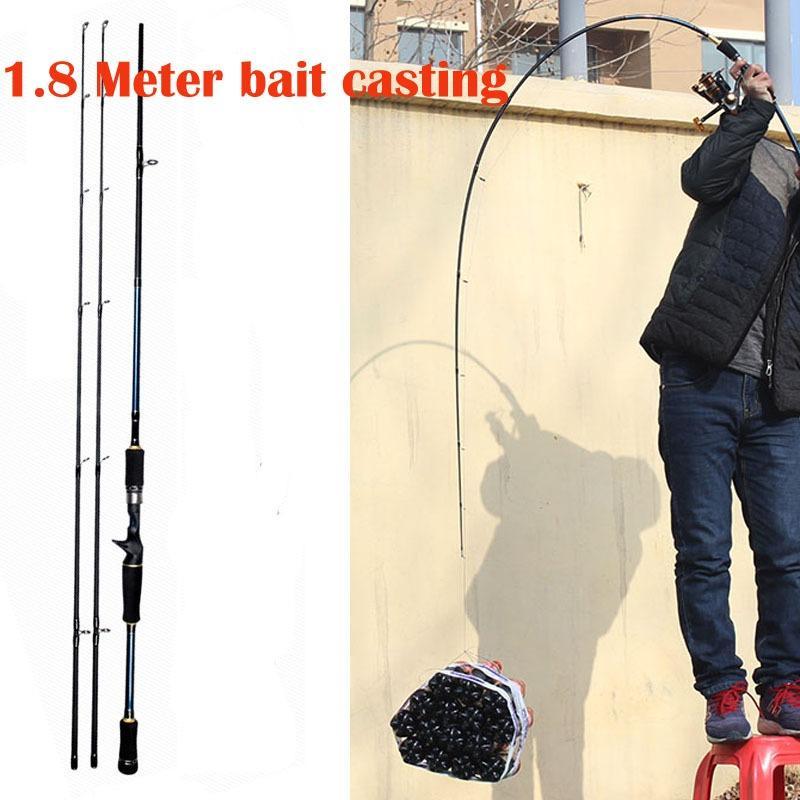 Beli 1 8 2 1 Meter Spinning Bait Casting Fishing Rod Tongkat Pancing Joran Putar Bahan Karbon Fiber Ukuran M Ml Baru