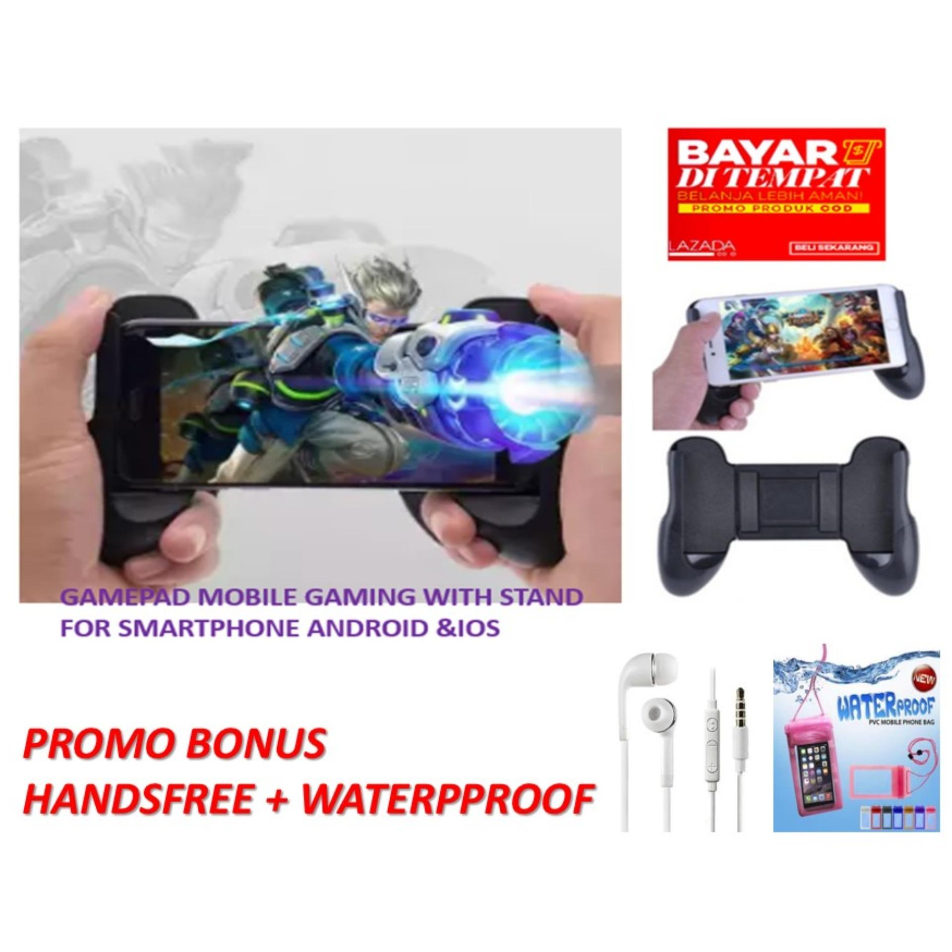 gamepad – mobile holder bisa standing untuk gaming – bisa semua jenis hp android & ios universal for mobile legend/ aov / pubg/ ros/ gamepad mobile / gamepad untuk pegangan mobile game  universal bonus handsfree+waterproof case