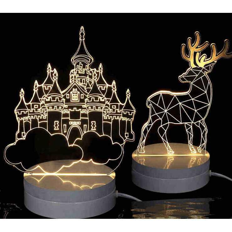 Gambar Produk Rinci Lampu 3D LED Transparan Design Deer Terkini