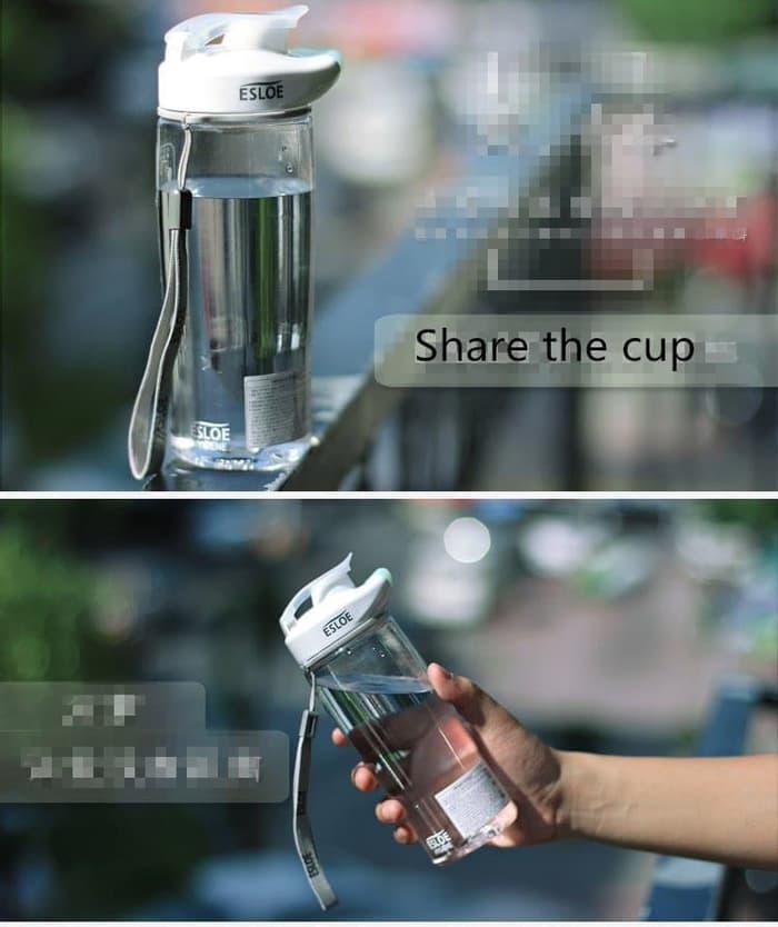 Botol Minum Sport ESLOE water Bottle 500 ml-botol dagu-botol kekinian- H318