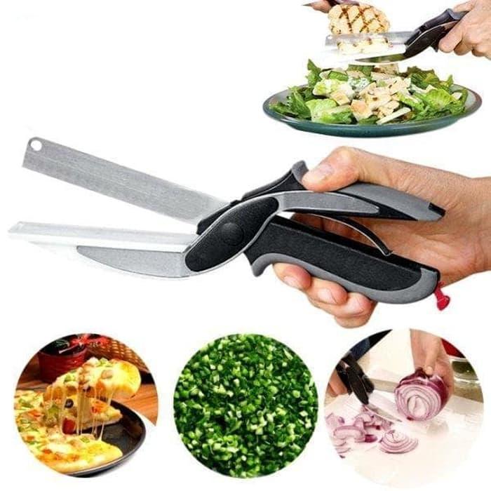 ... Pisau Master Cheff / Sampt Cuttep / 2 in 1 Pisau Talenan Gunting Makan - 4 ...