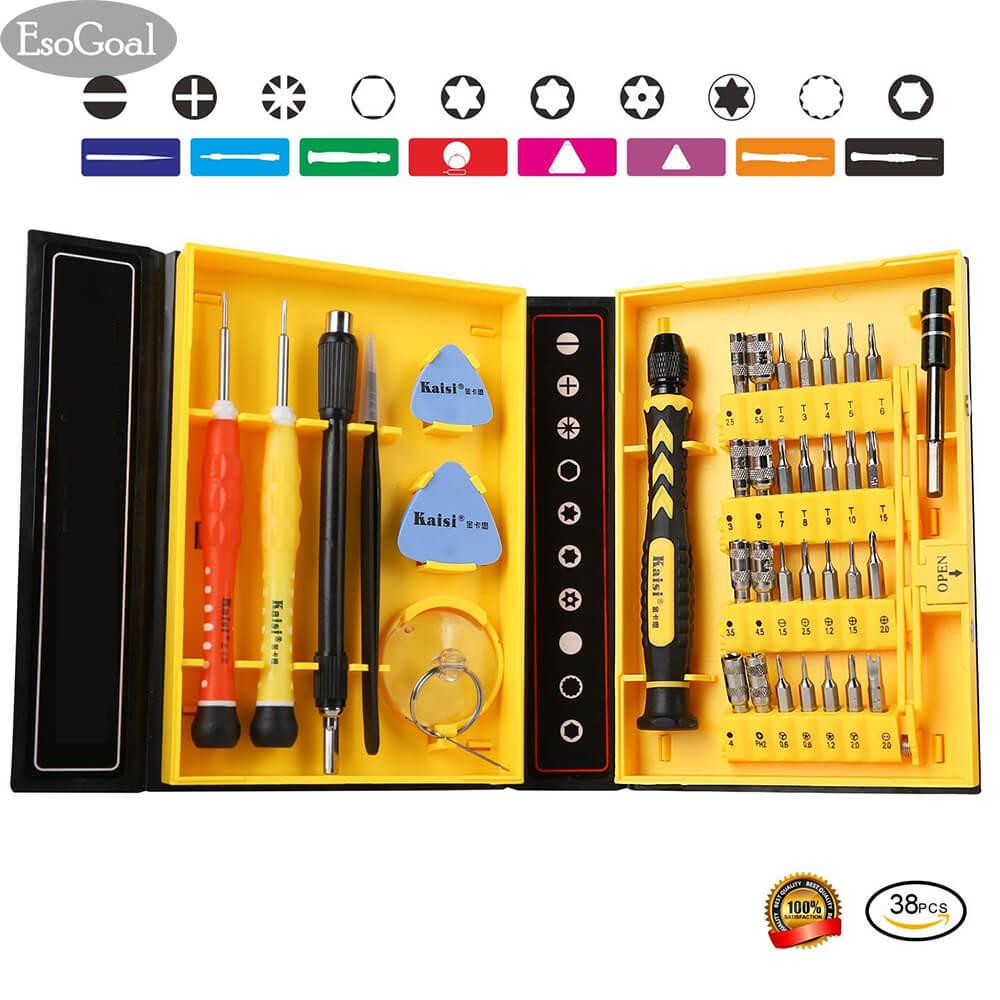 Spesifikasi Jvgood Repair Kit Magnetic Screwdriver Set Precision Tool Kit Repair Computer Repair Phone Tablets Devices Tool Set Box Kaisi 38 Piece Crv Yg Baik