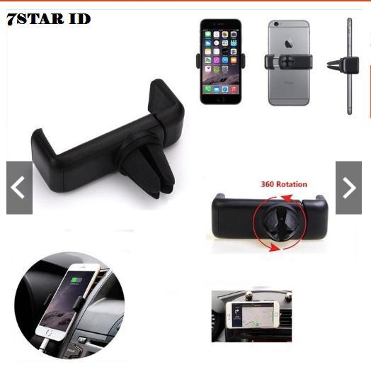 Phone Holder Car AC Mobil GPS Universal For Mobile Smartphone - Hitam ...