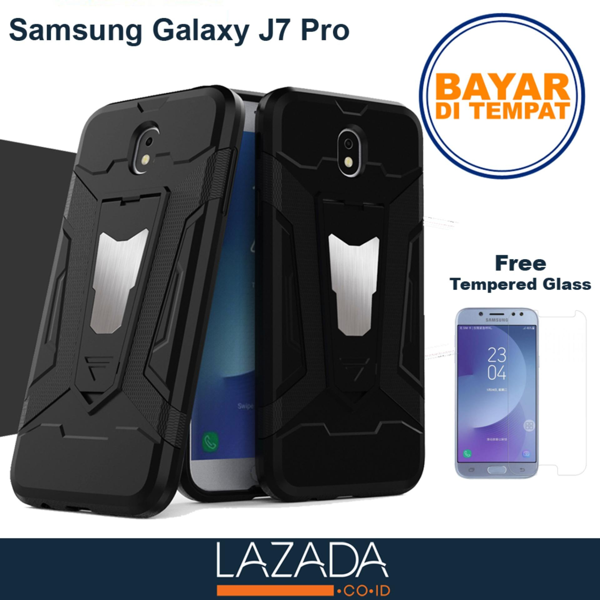 Case Transformer Armor Shockproof With Stand Samsung Galaxy J7 pro FREE Tempered Glass