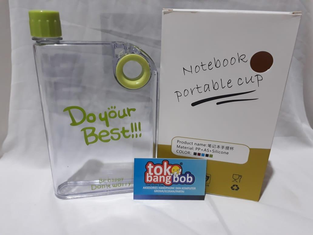 Eigia Memobottle A5 Botol Minum Memo Bottle 420 Ml Premium Grade Doff Soft Do Your Best Flat 420ml Source Bandingkan Toko Doyour Notebook Portable Cup Bening Hijau Harga