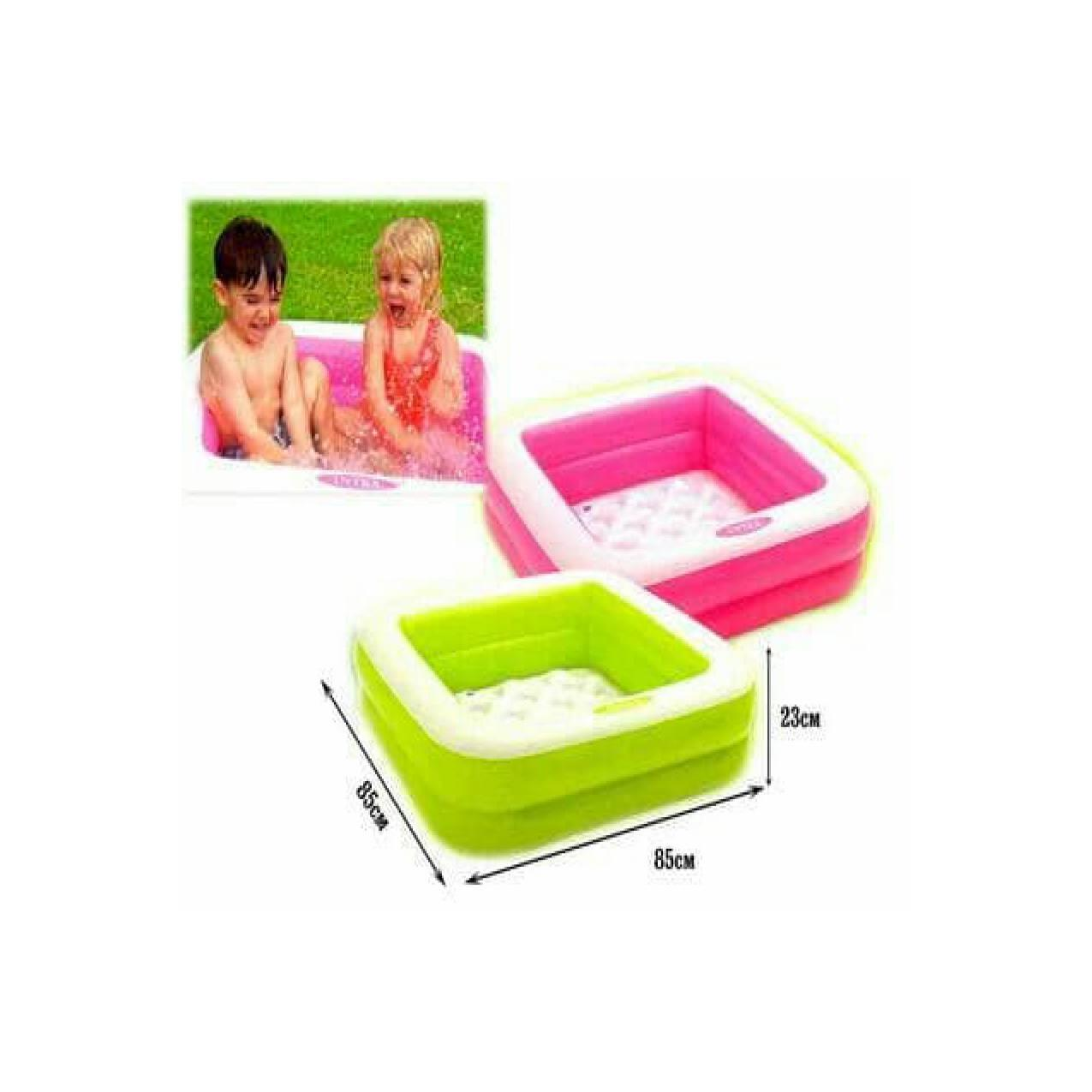 Fitur Kolam Baby Play Box Pool Inflatable Kiddie Swimming Intex Renang Smiley Giraffe 57105 Detail Gambar Terbaru