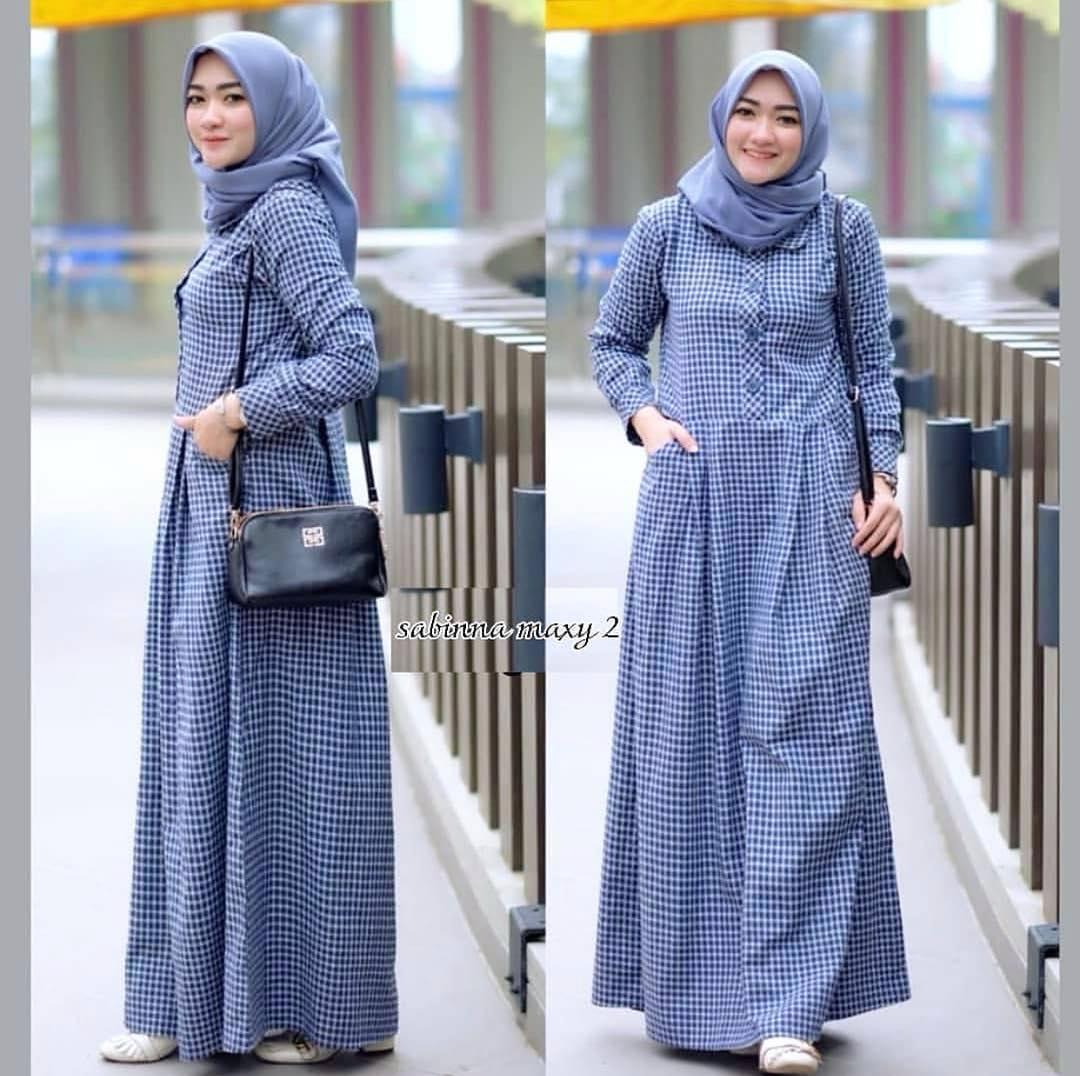 Gamis Sabinna Maxy Vol2 Dress Cotton Baju Wanita Gamis Baju Terusan Panjang  Baju Kerja Gaun Pesta a8eefea3c9