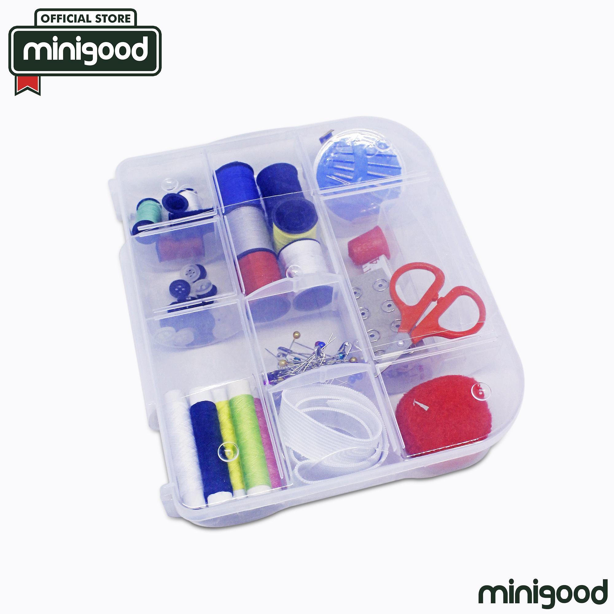 Galeri Gambar minigood sewing kit perlengkapan menjahit jarum benang kancing meteran gunting peniti bentuk kotak Lengkap