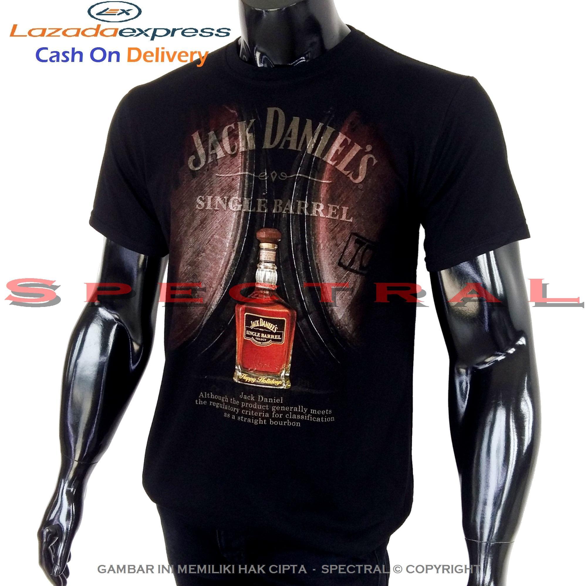 Spectral - JACK DANIELS 100% Soft Cotton Combed 30s Kaos Distro Fashion T- Shirt