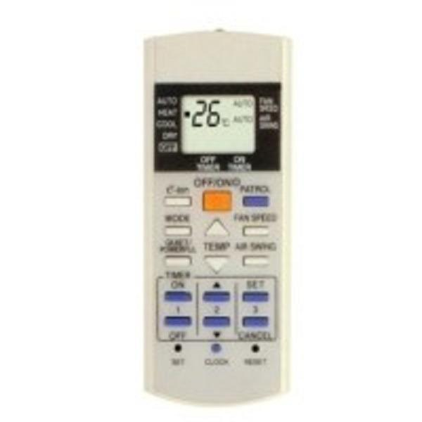 Panasonic Eion Patrol Remote Control AC Free Batterai A3 2pcs- Putih