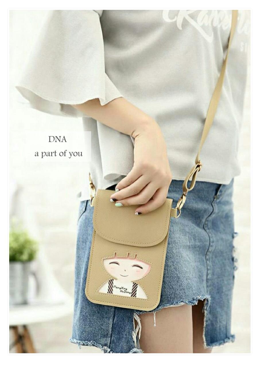 ... Cewek Fashion Kasual Bahan Kanvas Korea Multifungsi tas selempang    bahu wanita minibag motif wanita df7ab30247