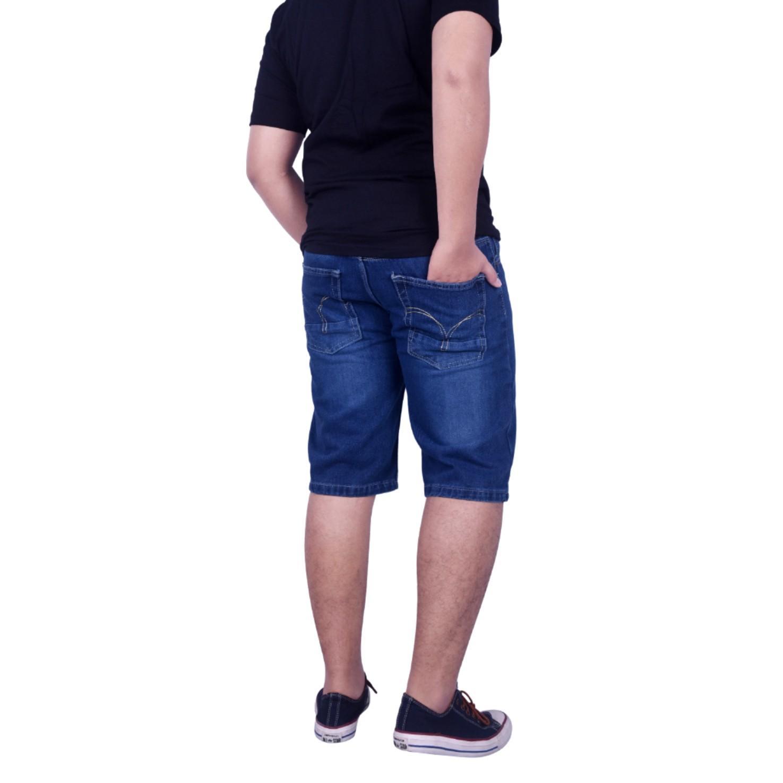 Dgm_Fashion1 Jeans Pendek Jumbo Biru Washing /Jeans Pendek Denim Jumbo /Celana lepis/Celana Jeans Skinny Pria/Celana Panjang/ Celana Pria/Celana Casual/celana denim/celana jeans gede/jeans besar /CELANA JEANS big size/Celana Big Size/Jeans Gendut GI 5907 - 3