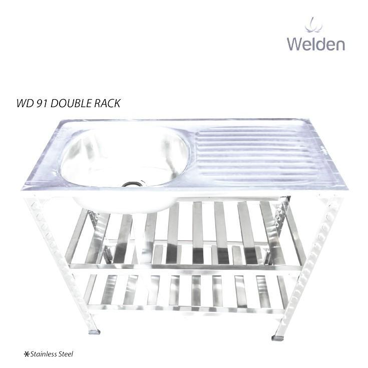 Bak Cuci Piring - Kitchen Sink Kaki Meja Rak Portable Welden 91Pk2 - Wndbb4