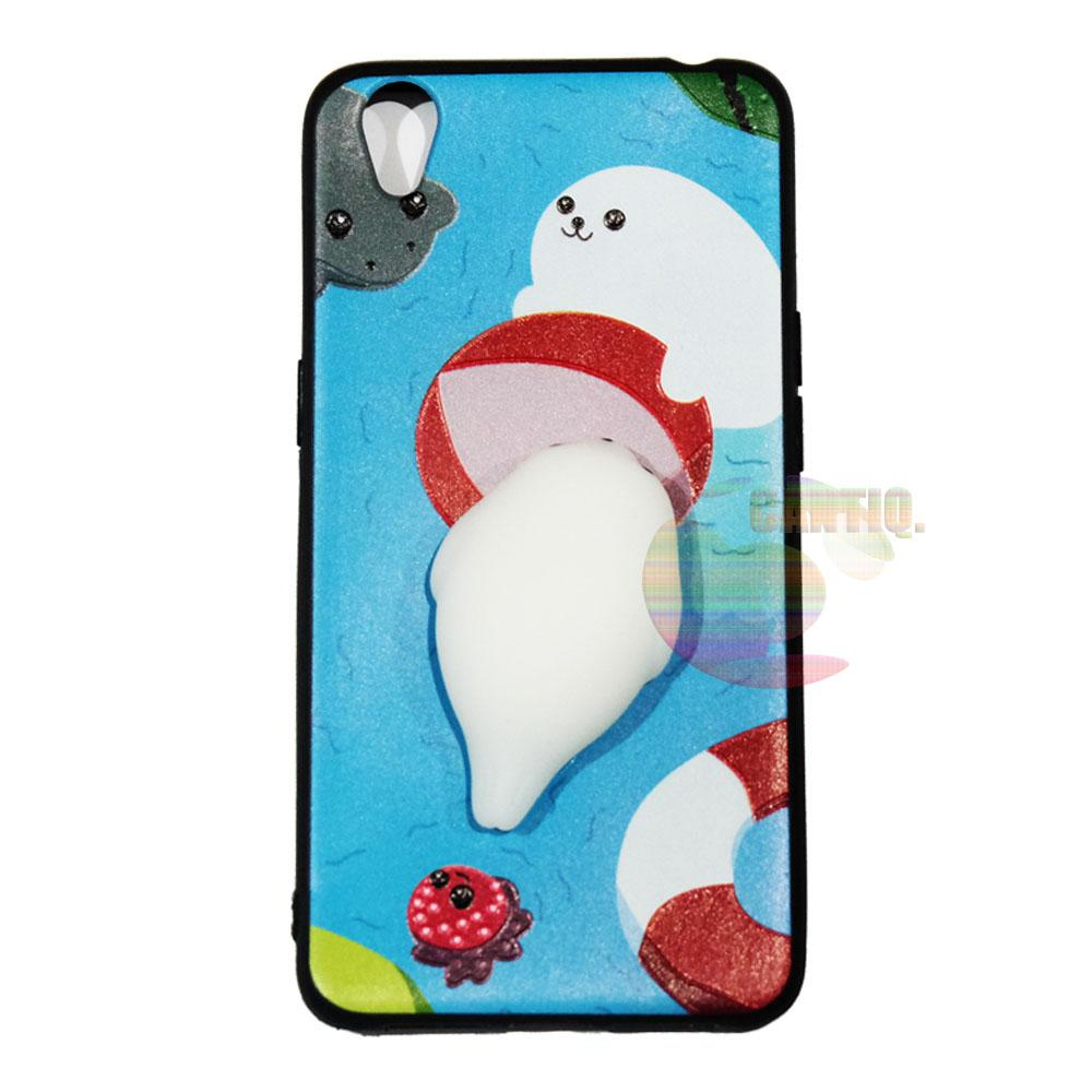 Detail Gambar Icantiq Squishy Case Oppo Neo 9 A37 Squishy Seals Cute / Silikon 3D Squeeze