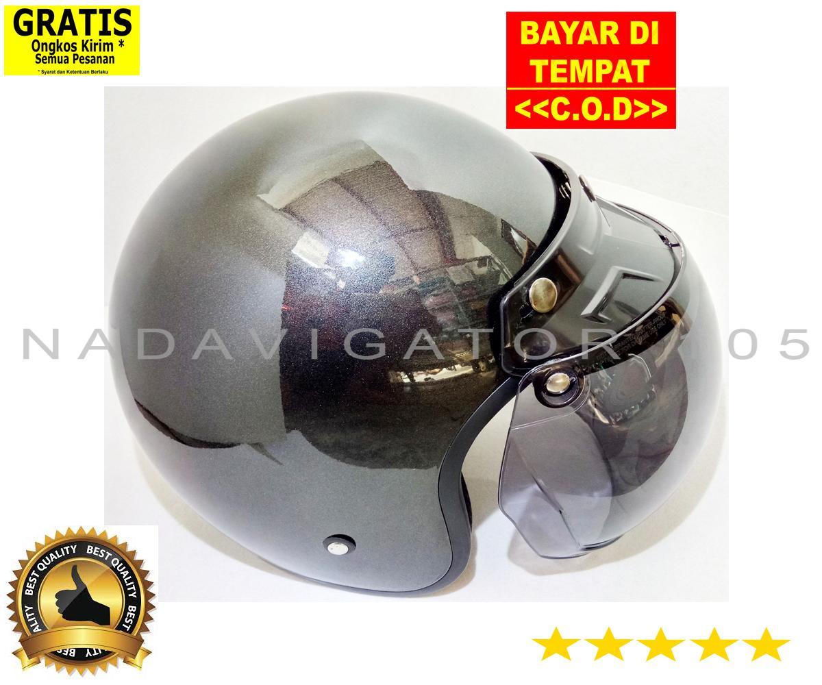 NADAVIGATOR 105 HELM RETRO DEWASA CLASSIC SNI Bukan Bogo Non Kulit Polos Glosy HRCCKT Helmet TERLARIS