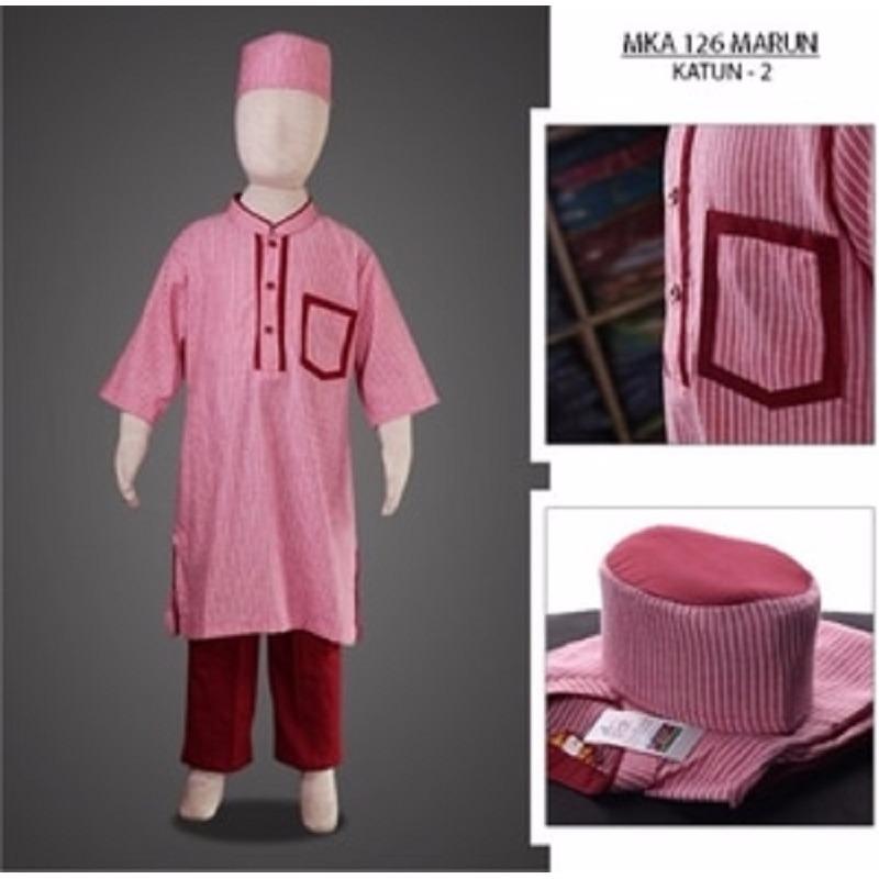 MKA126Marun(2-4tahun) baju koko buat anak cowo terbaru