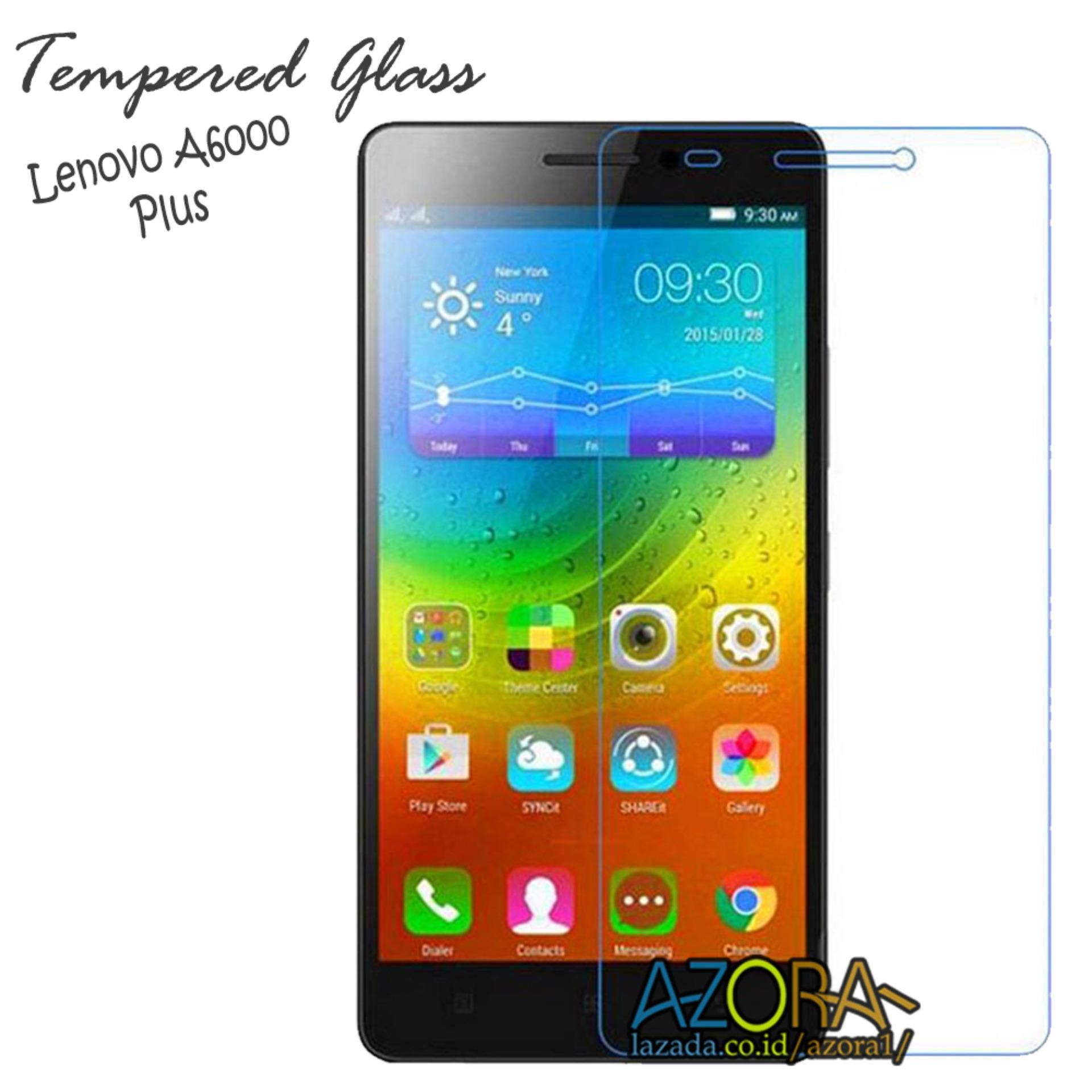 Tempered Glass Lenovo A6000 Plus Screen Protector Pelindung Layar Kaca Anti Gores Bening