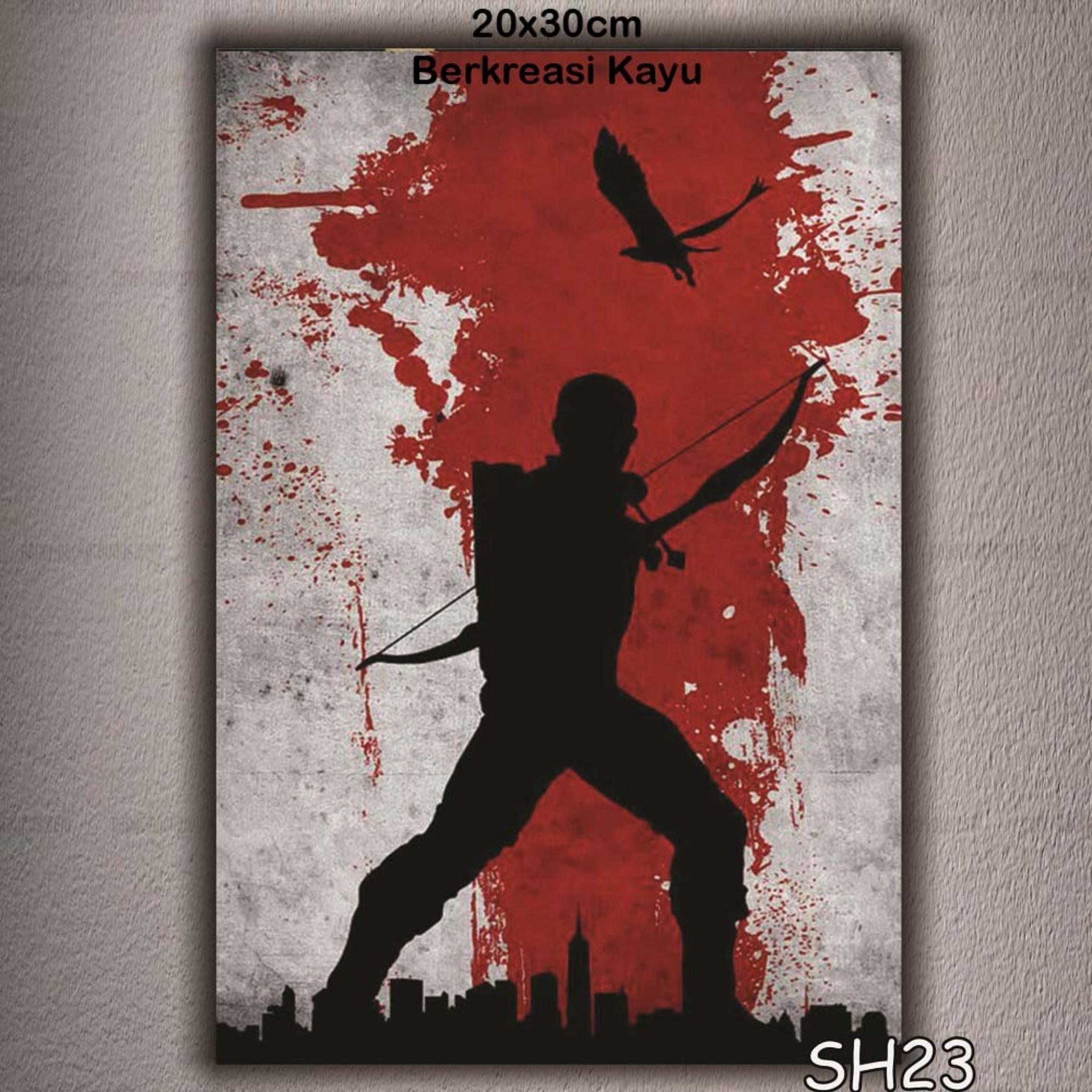 Vasty Hiasan Dinding Kayu Wall Decor Poster Super Hiro VSH-23