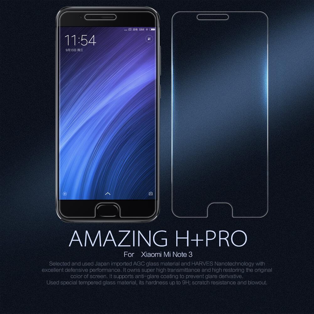 Nillkin H+ PRO Tempered Glass Screen Protector for Xiaomi Mi Note 3
