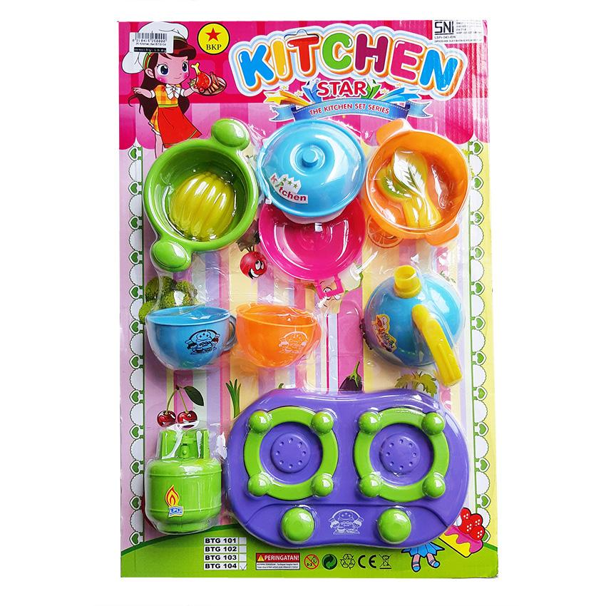 AA Toys Mainan Kitchen Mika Play Set BTG104 - Mainan Masak Masakan