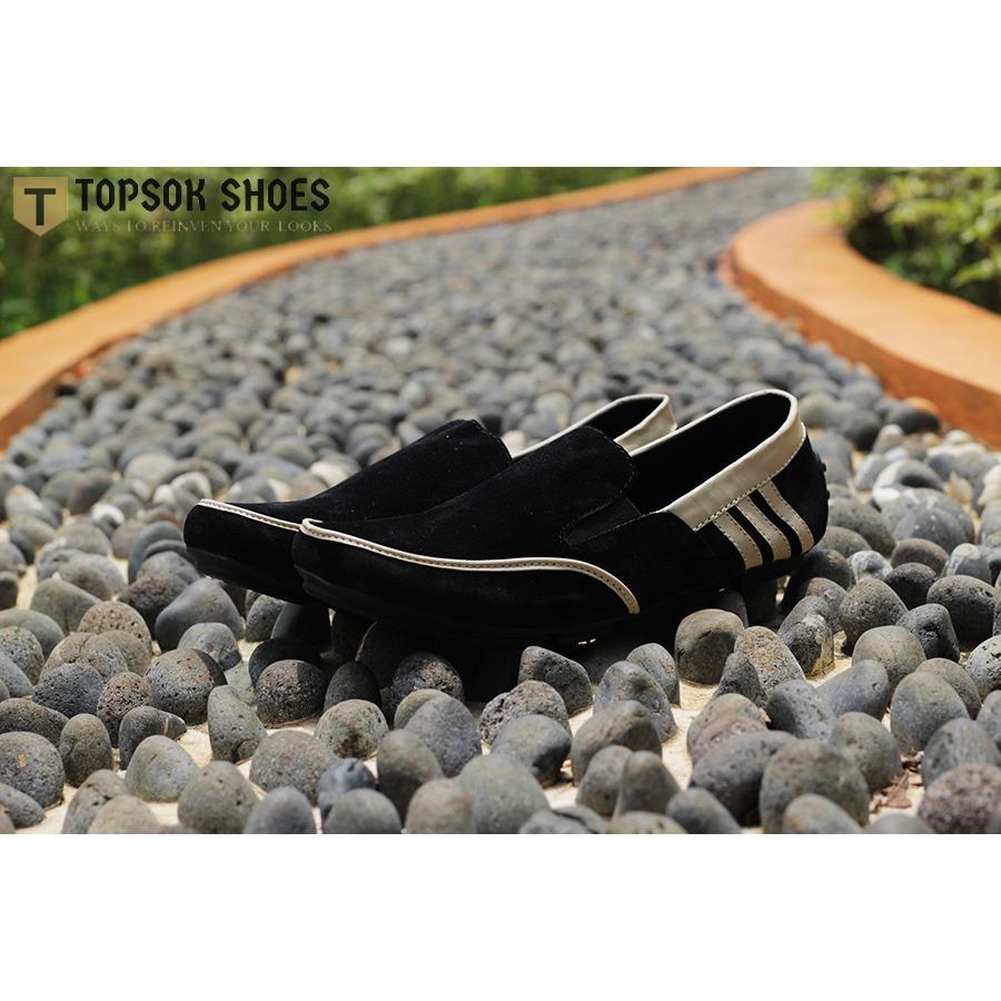 Topsok Shoes Wetluk Hitam Sepatu Slip on Casual Pria Suede - 2