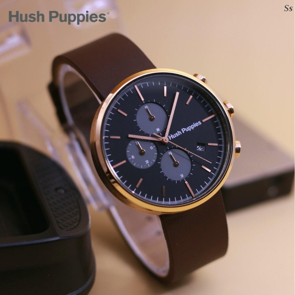 Jam Tangan Hush Pupies Chrono Jaeger - Limited Edition Elegant Series-Pria Wanita Formal Kasual Terbaru-Women Men Luxury Watch-Leather Strap-Kulit Kanvas Army Kekinian Sporty Fashionable Bonus Zippo Premium Beam Korek Free Trend 2018