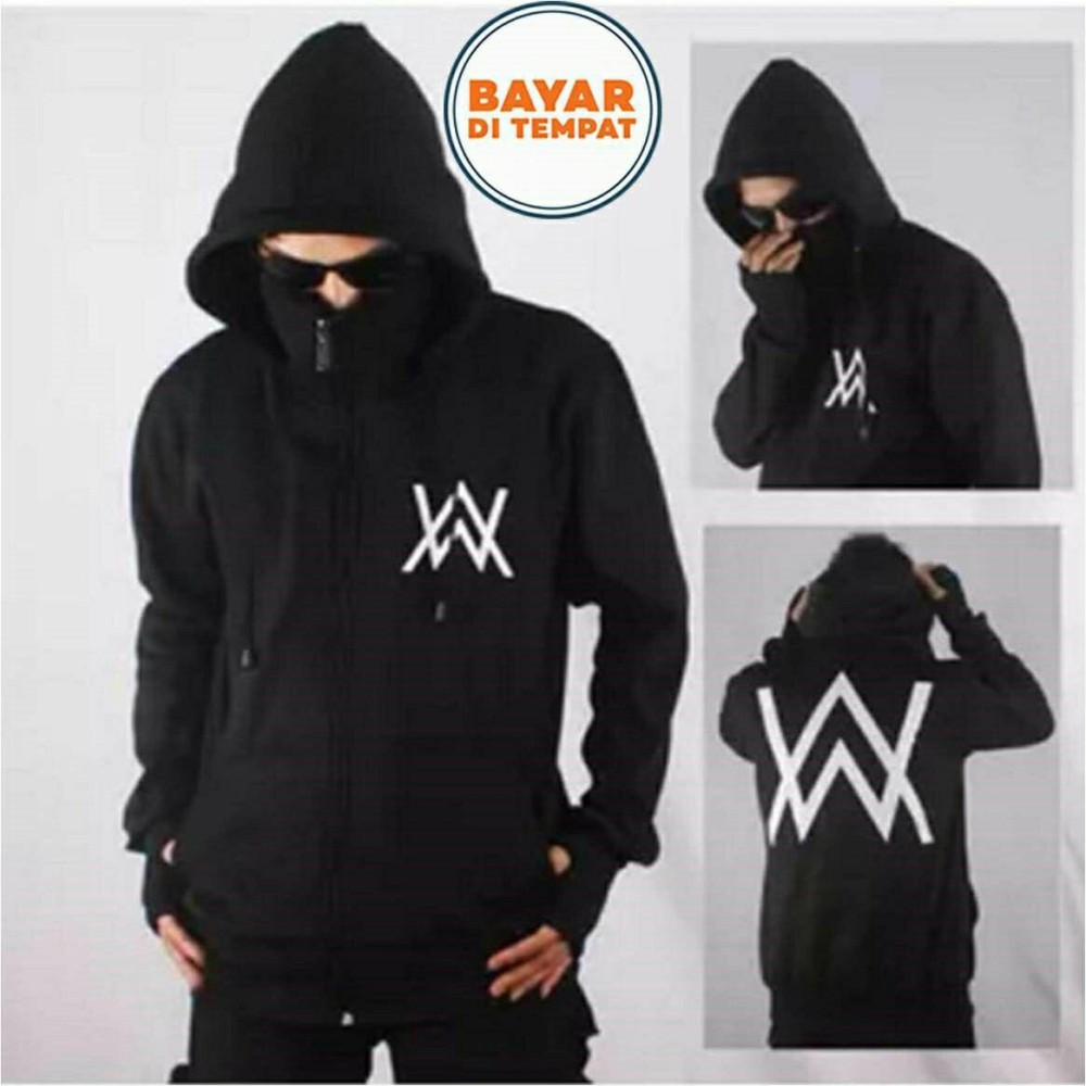 Jual Aduuh Jaket Hoodie Zipper Ninja Alan Walker Black Branded