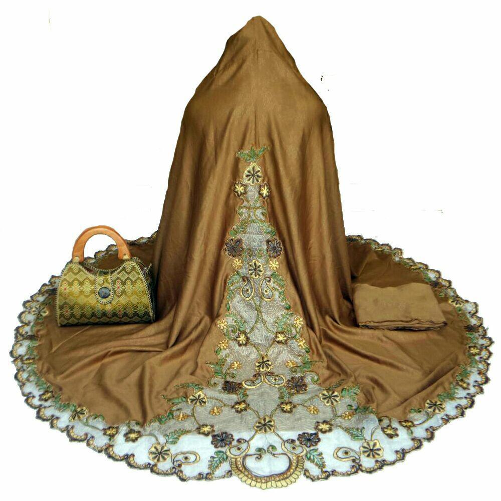 Top 10 Ukhuwah Mukena Bordir Semi Sutra Dove Coklat Online