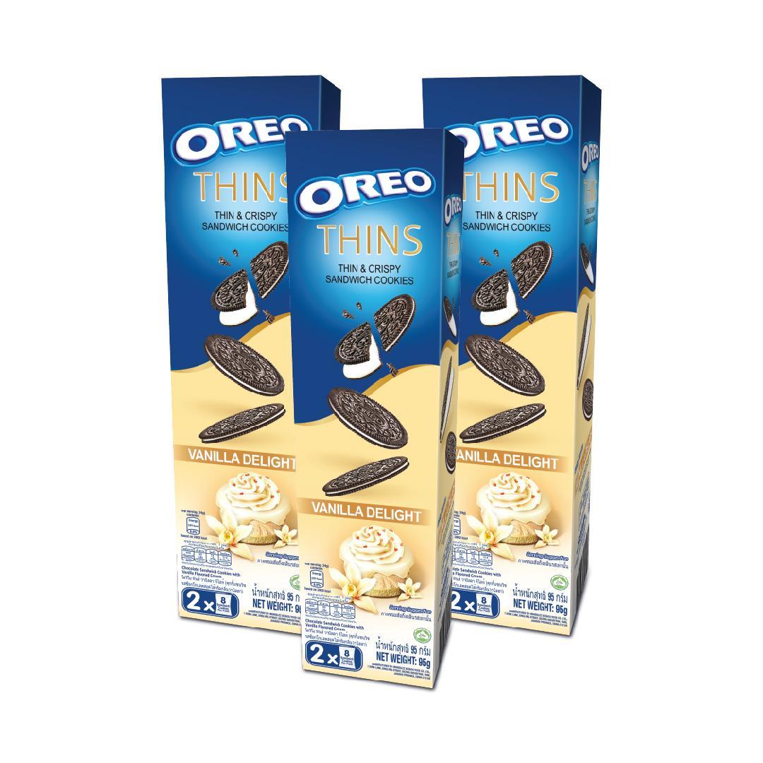 [NEW!] Triple Pack Oreo Thins Vanilla Delight 95 gr