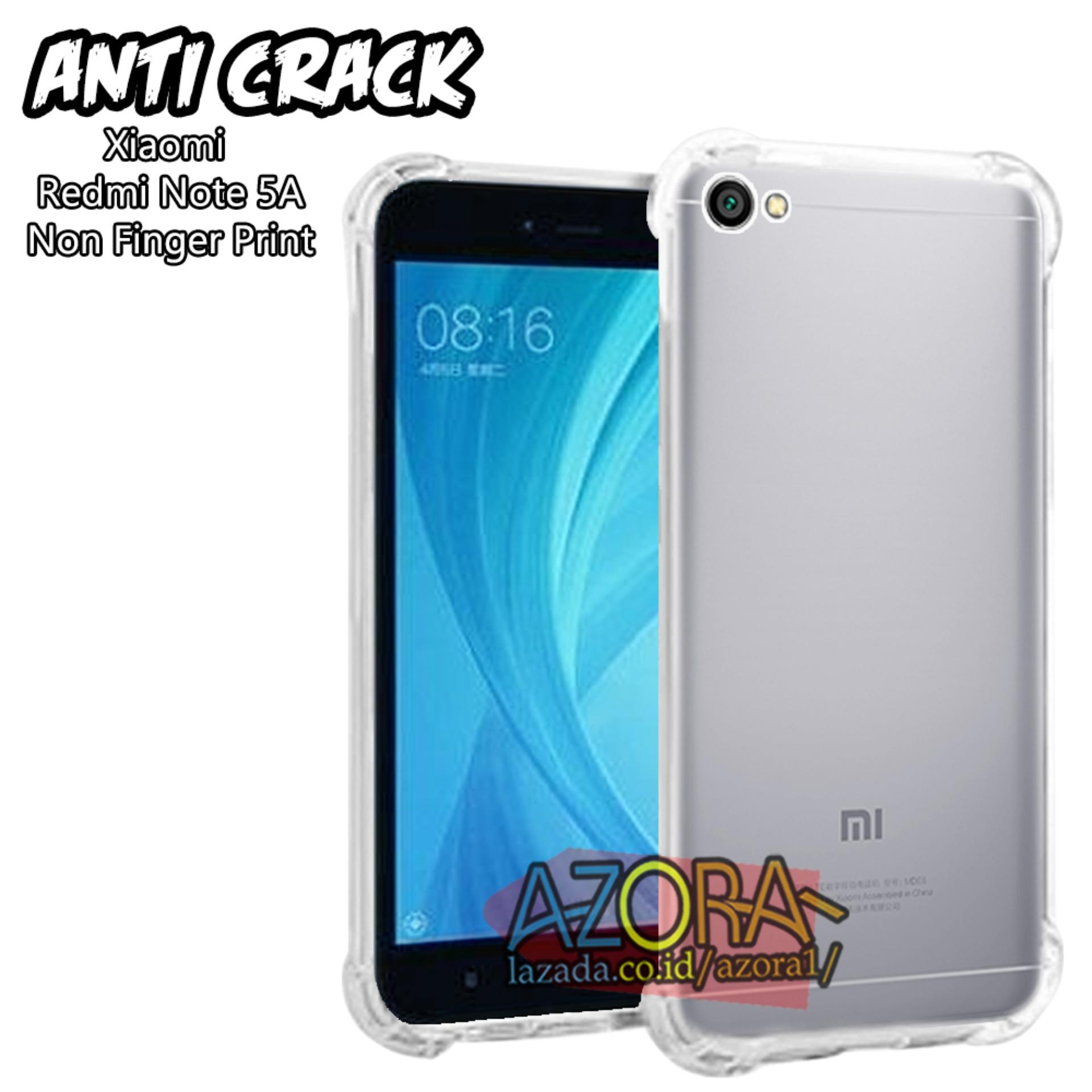 Case Anti Crack Xiaomi Redmi Note 5A Non Finger Print ( 5,5 Inch ) Ultra Thin Anti Shock Jelly Silikon Shockproof Softcase Azora - Bening XC1