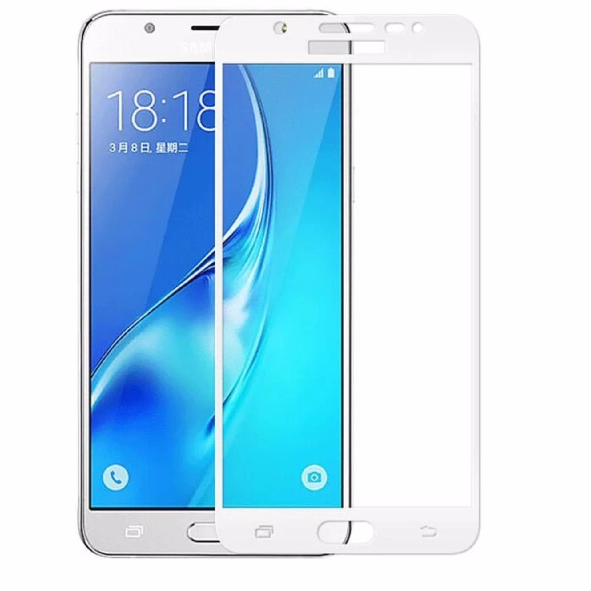 Jual Ismi Full Covered Tempered Glass For Samsung Galaxy J7 Prime 3 Mm Japan Material Glass Full Color Silver Silver Tempered Glass Protector Branded