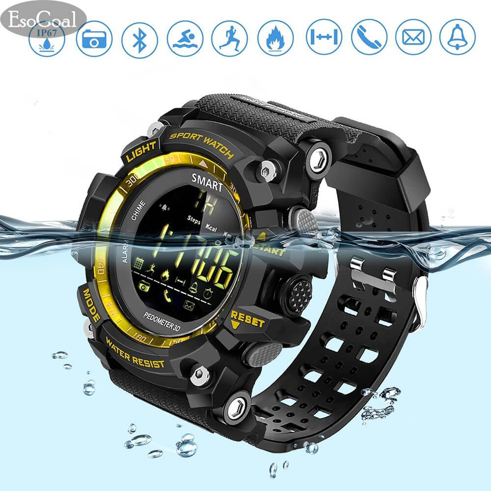 Beli Esogoal Sports Smart Watch Bluetooth Watch Smartwatch Pedometer Fitness Tracker Wearable Technology Ip67 Waterproof Remote Running Equipment Android And Smartphones Best Choice Men And Boys Black Online Tiongkok