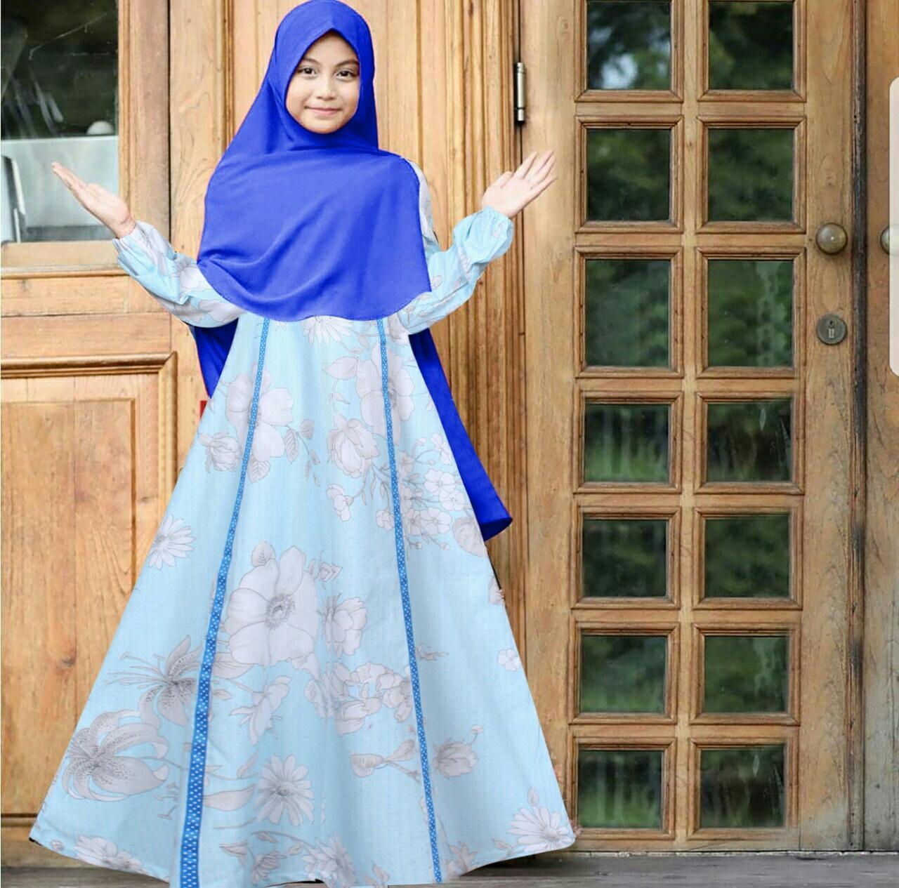 Liliana Baju Gamis  Untuk Anak 6-8thn  Fashion  Terbaru Wanita