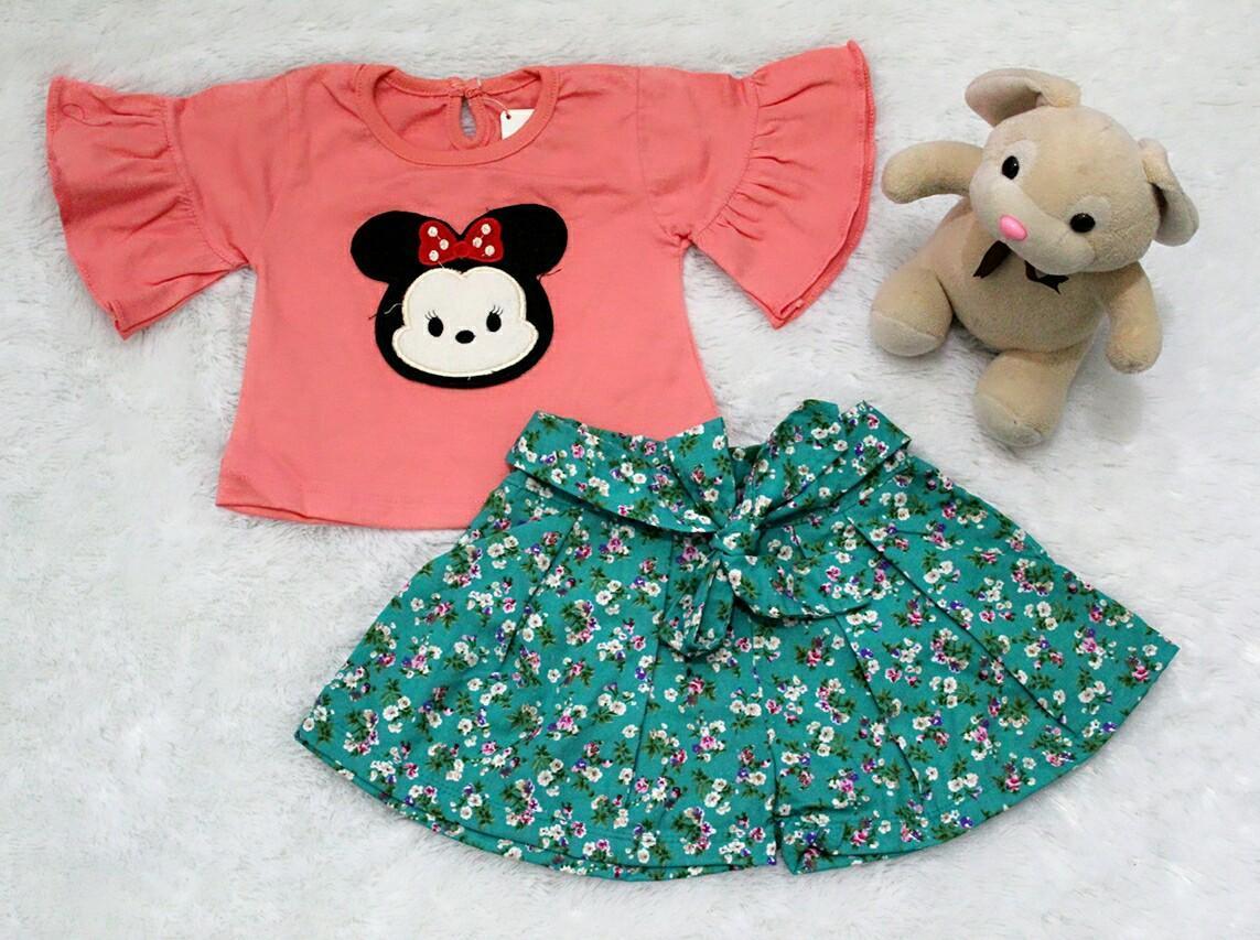 All Size 3-12 Bulan / Setelan Baju Celana Bayi Anak - Tsum Lengan Terompet