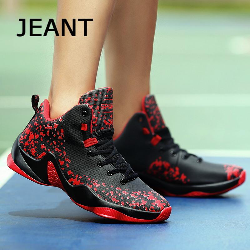 JEANT Men Basketball Medium Cut Shoes Basketball Sneakers Sport Shoes 39-46 .