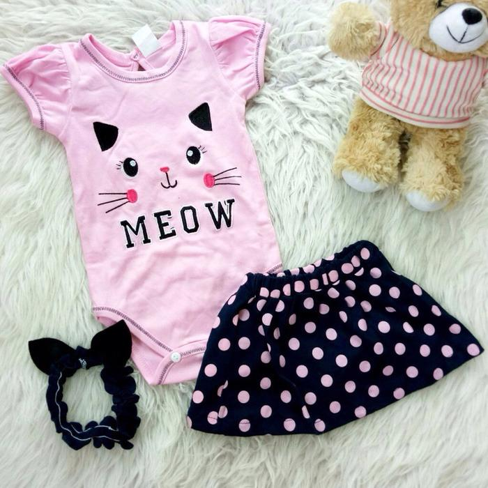 Review Tentang Jumper 3In1 Set Cat Face Baju Bayi Anak