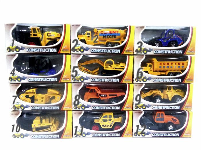 ... Mainan Mobil Kontruksi / Miniatur Truck Builders / Diecast /Mainan Anak Laki Laki / Rasyidtoys