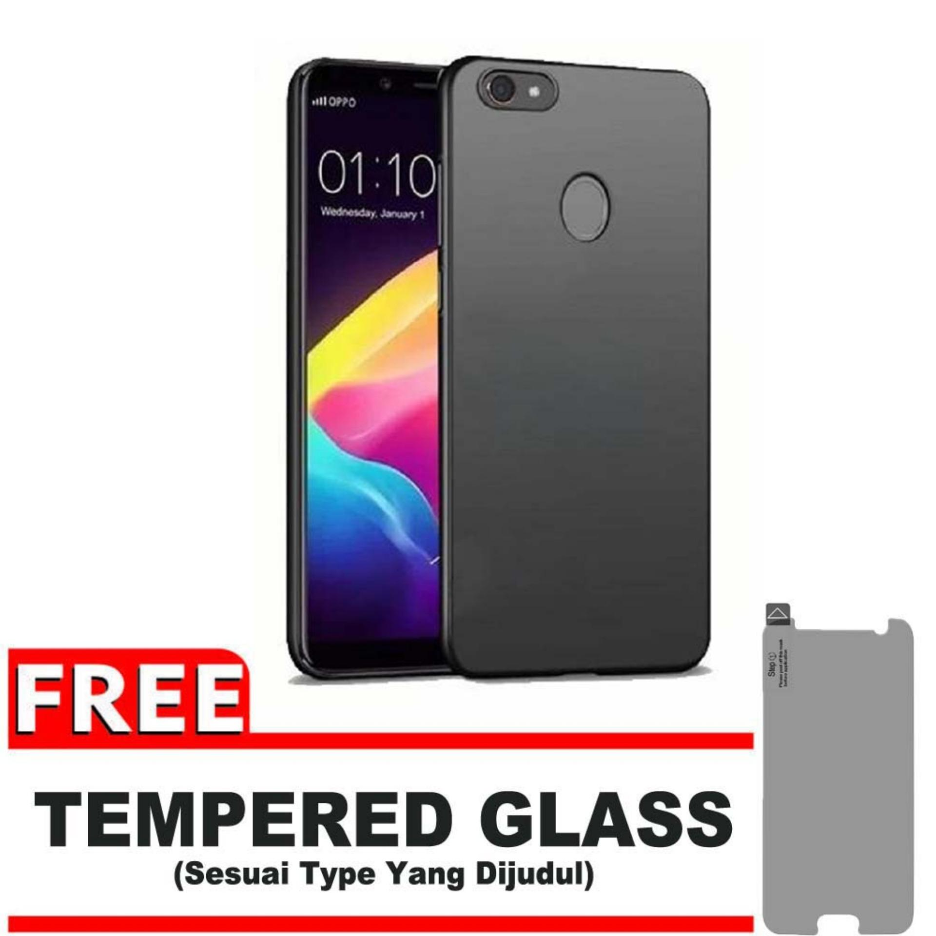 DarkNight for Oppo F5 / Youth | Slim Case Black Matte Softcase Premium (Anti Minyak/Anti Sidik Jari) - Gratis Free Tempered Glass Prote - Hitam Doff