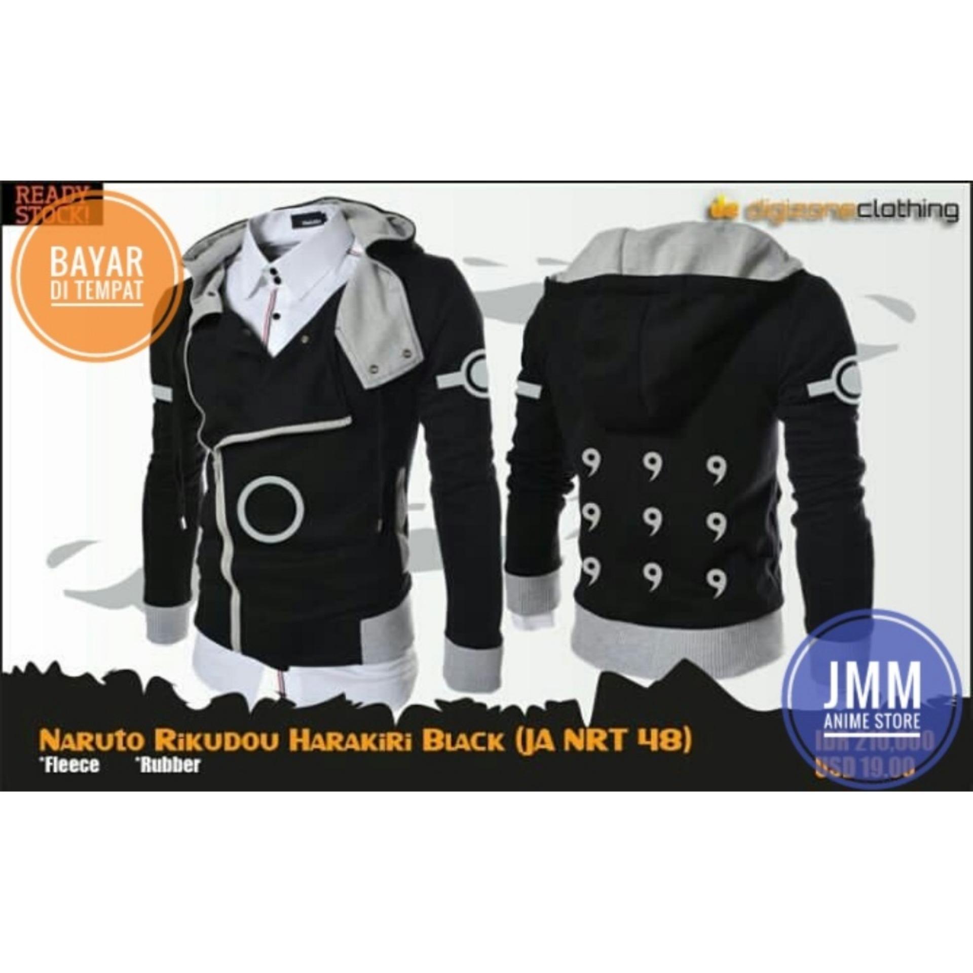 Harga Jaket Anime Naruto Cosplay Rikudou Sennin Harakiri Style Black Hoodie Best Seller Dan Spesifikasinya
