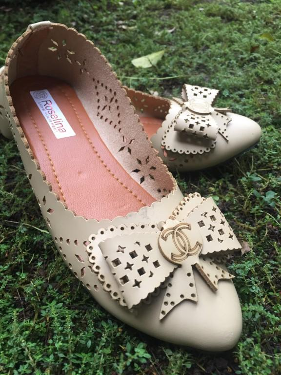 Rembulan Flatshoes wanita coklat muda
