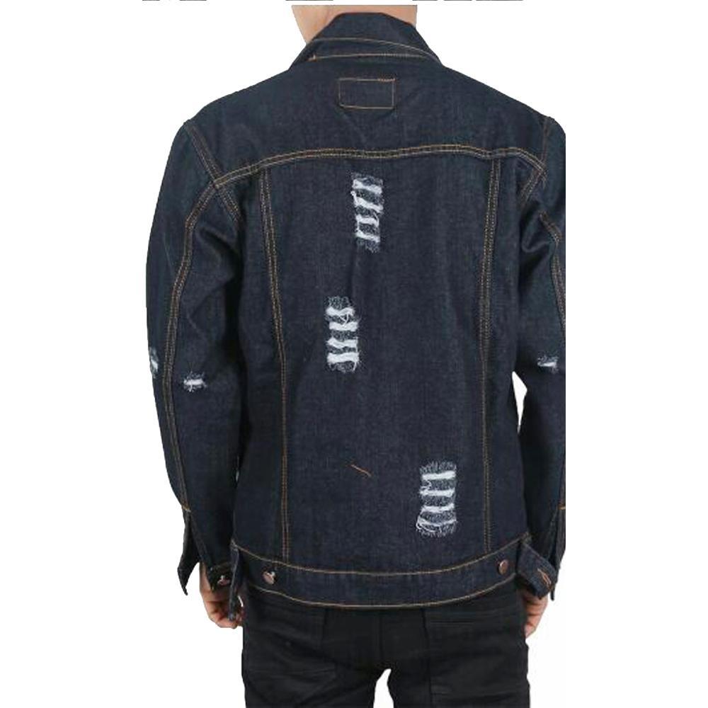 ... Jaket Jeans Pria sobek ripped - 3
