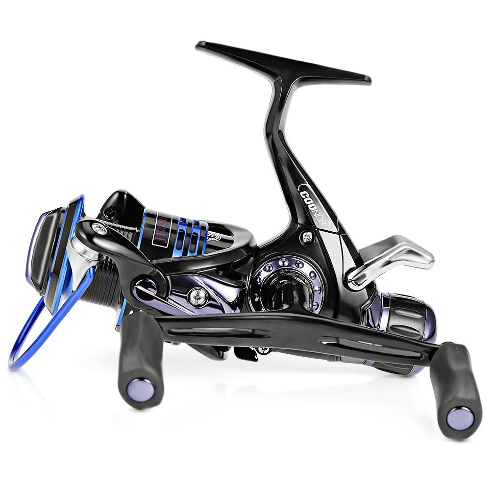 Detail Gambar COONOR J12 9 + 1BB Spinning Reel with T-shape Handle-BLUE AND BLACK J12 - 3000 Terbaru