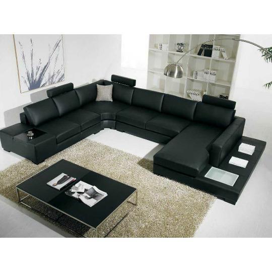 sofa minimalis black