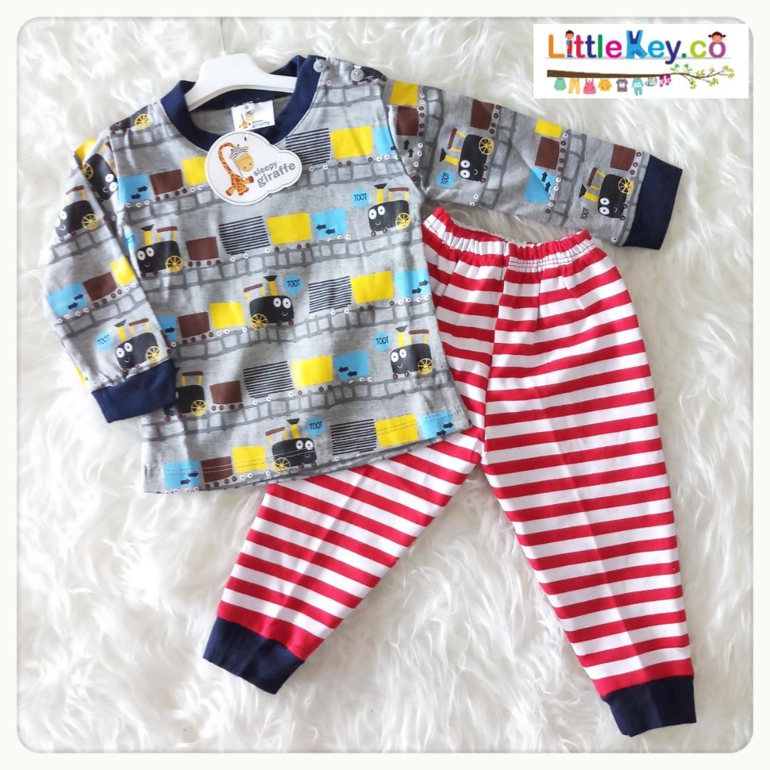 Littlekey - Setelan Baju Tidur Bayi Laki Laki/Piyama Bayi Laki Laki/Pakaian Bayi