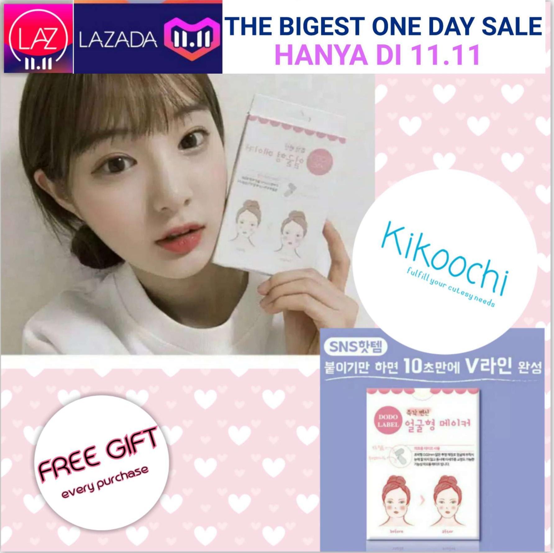 Dodo Face Label V Face Label Sticker Wajah Sticker Muka Penirus Pipi Korea Focallure Eyeshadow Pallete